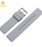 Grey silicone watch strap manufacturer 26mm military
