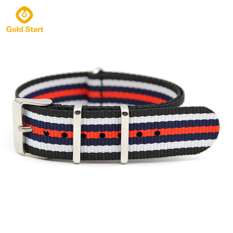 black white blue red striped nylon nato strap james bond