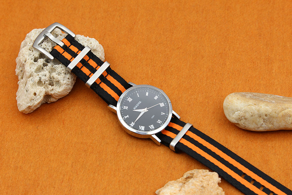 black orange nato strap james bond china factory