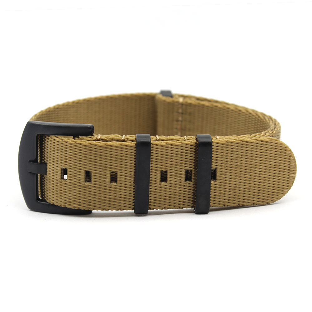 olive green nato strap military brushed pvd black