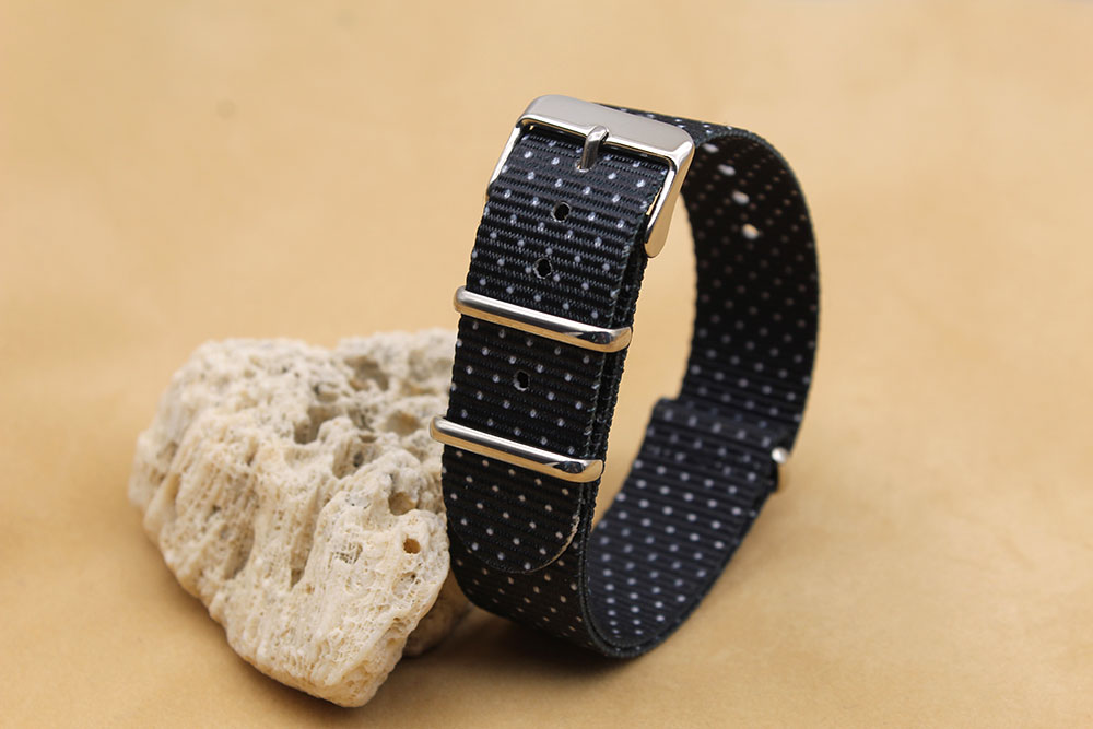 black nylon watch strap heavy duty