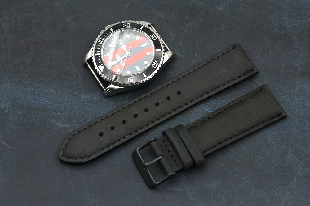 wholesale black watch straps real leather