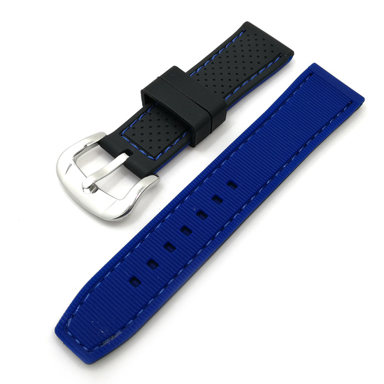 navy sport watch strap rubber military rally