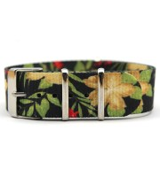 green floral nato strap printed nylon strap wholesale 18mm