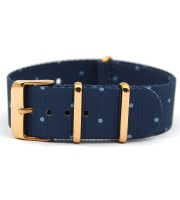 gold nato strap windsor printed nylon