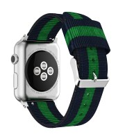 nylon apple watch band 38mm blue green blue