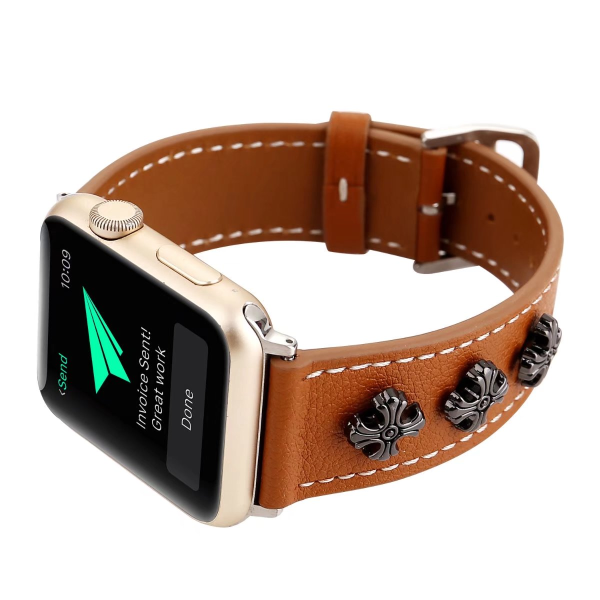 brown leather apple watch band 38mm