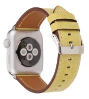 yellow watch strap Genuine leather apple watch
