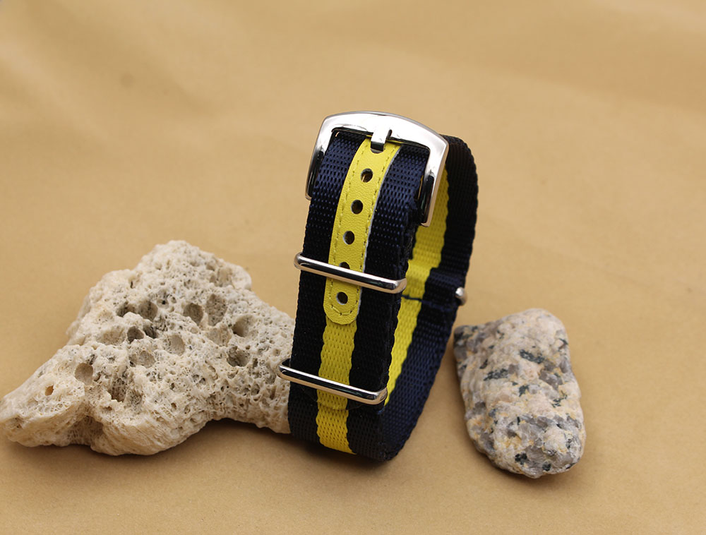 seat belt straps nato blue yellow 18mm