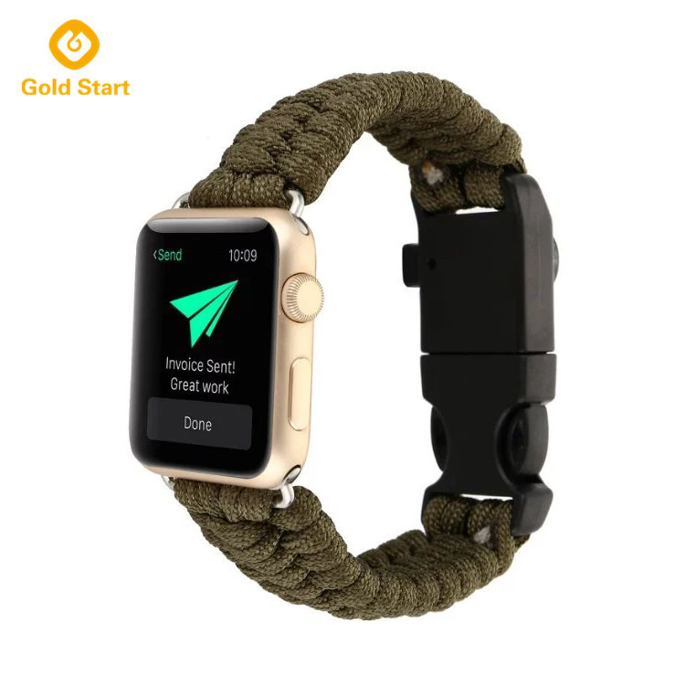 survival watch band apple watch military army green