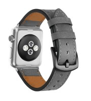 grey leather watch strap for apple watch 1 2 3 4