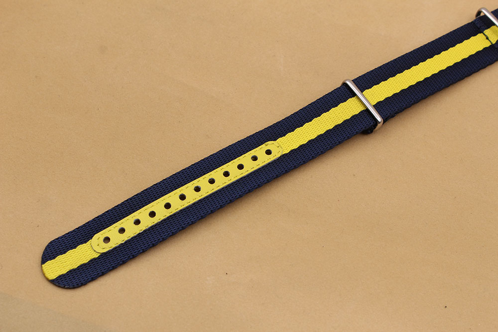 seat belt straps nato blue yellow 20mm