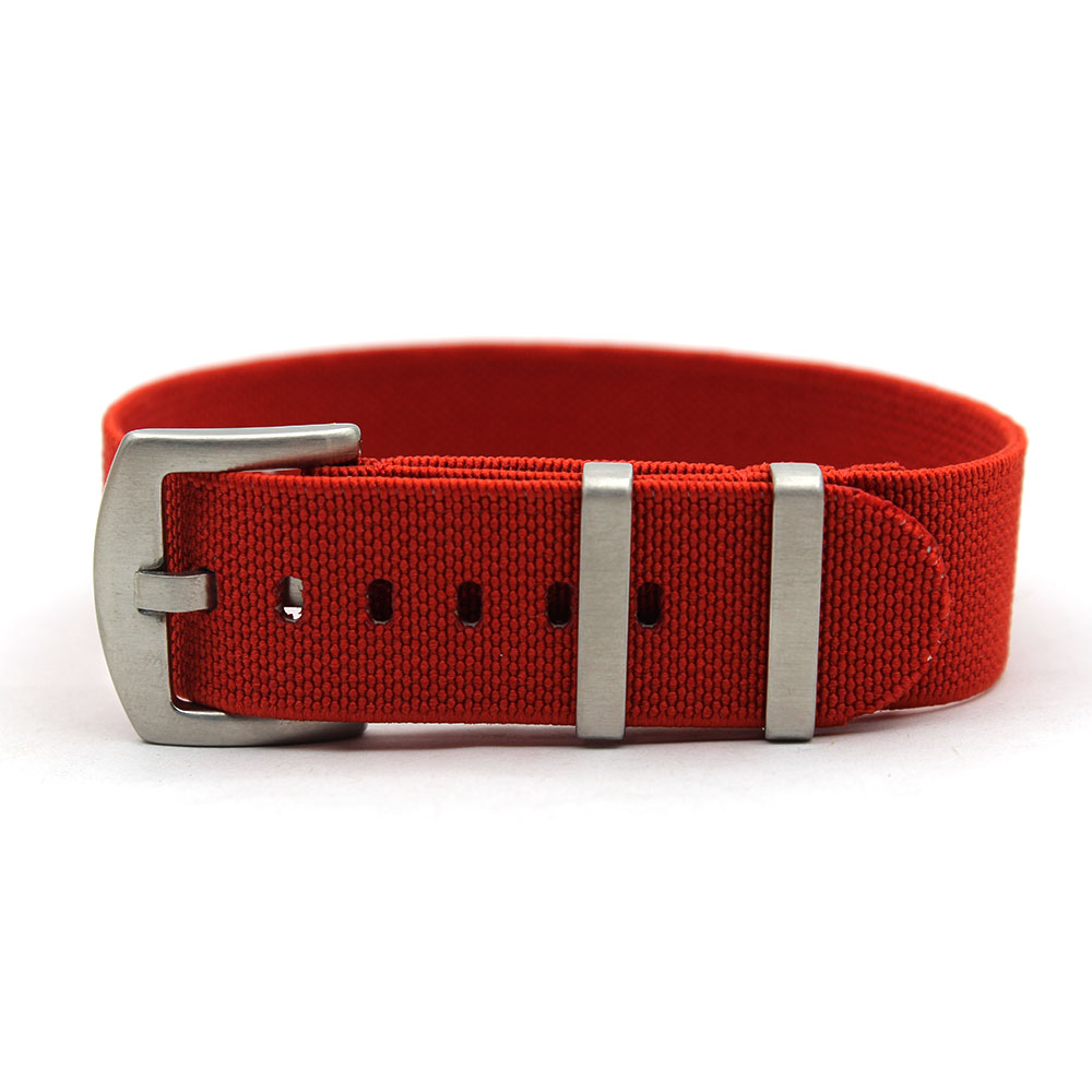 elastic nato strap nylon red heavy duty