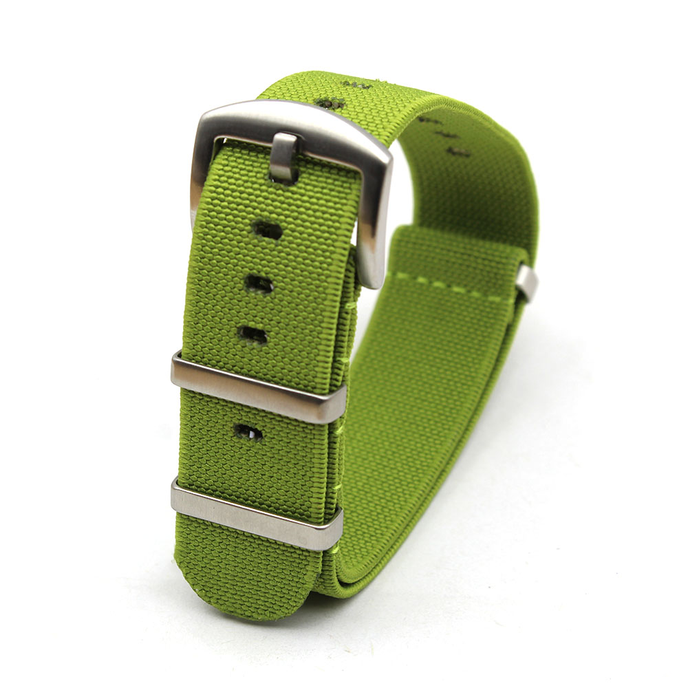 elastic watch strap nylon nato green 20mm