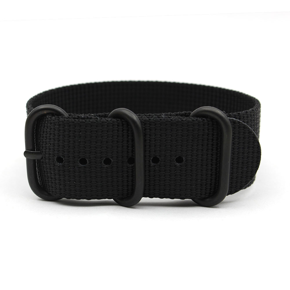 black zulu strap pvd black hardware ballistic nylon 24mm