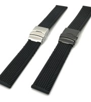 chopard rubber strap black silicone military sport waterproof