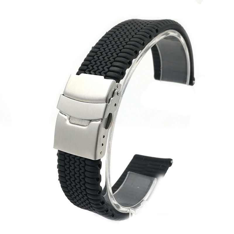 chopard rubber strap black deployment buckle