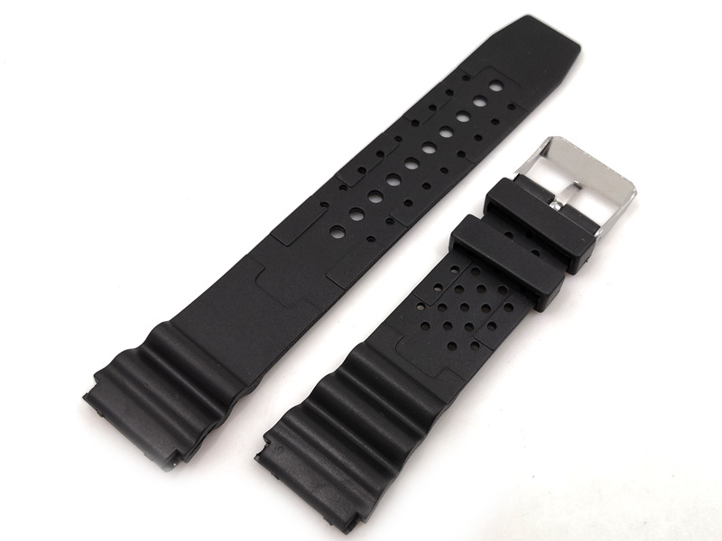 sports watch rubber strap black military