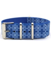 custom watch bands nylon nato floral