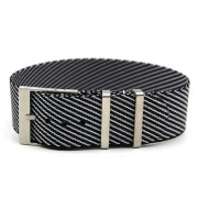 one pass nato strap black grey tudor