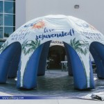 Inflatable water company tent