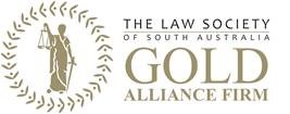 The Law Society of South Australia's Gold Alliance Firm logo.