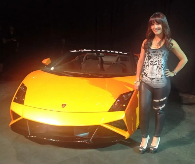 Battle Of The Strands 2013 - Lambo with model Harley