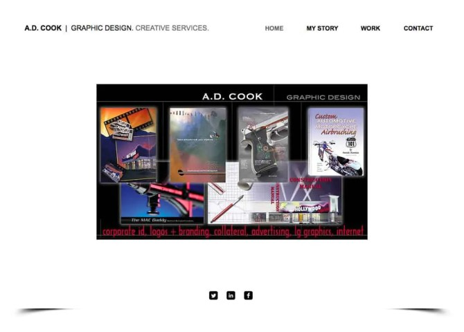 A,D. Cook Design Services site on Wix
