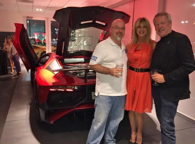 Lamborghini Aventador SV - Dr Lambo, Beti Kristof and A.D. Cook at Lamborghini Las Vegas