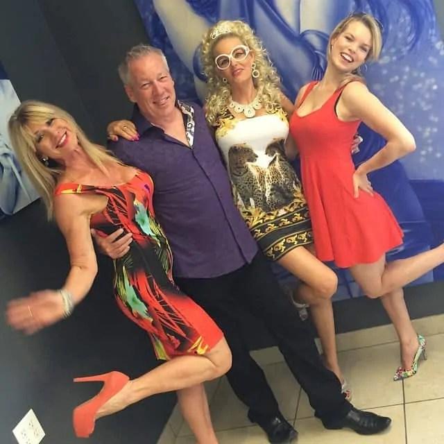 Beti Kristof, A.D. Cook, Regina Moyer and Danielle Baker at Underground Revolution, Las Vegas, NV
