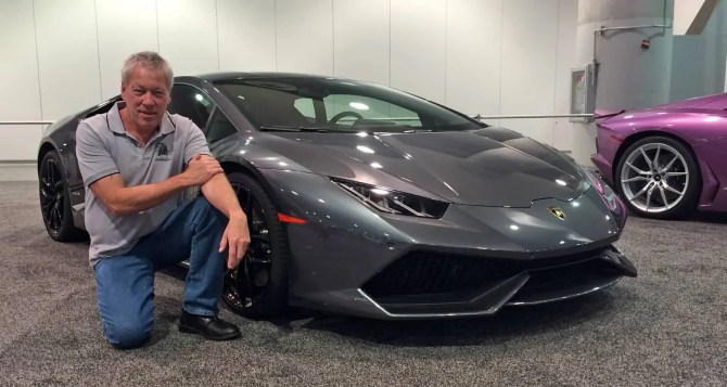 Motor Trend Auto Show - A.D. Cook with Lamborghini Huracan, Las Vegas, NV 2015