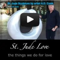 Artist A.D. Cook and St. Jude Sculpture