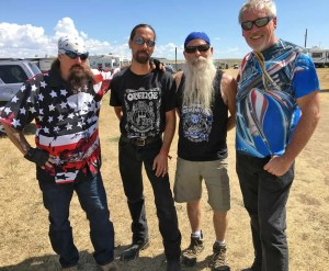 Charlie Brechtel, Cameron, Hank and A.D. Cook at Sturgis 2016