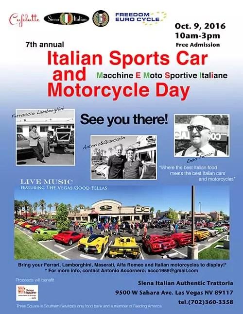italian Sportsc Car and Motorcycle Day 2016, Las Vegas