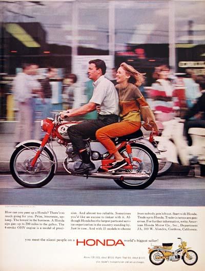 Honda Cb160 Motorcycle Classic Vintage Print Ad