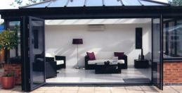 garden room with bifold doors