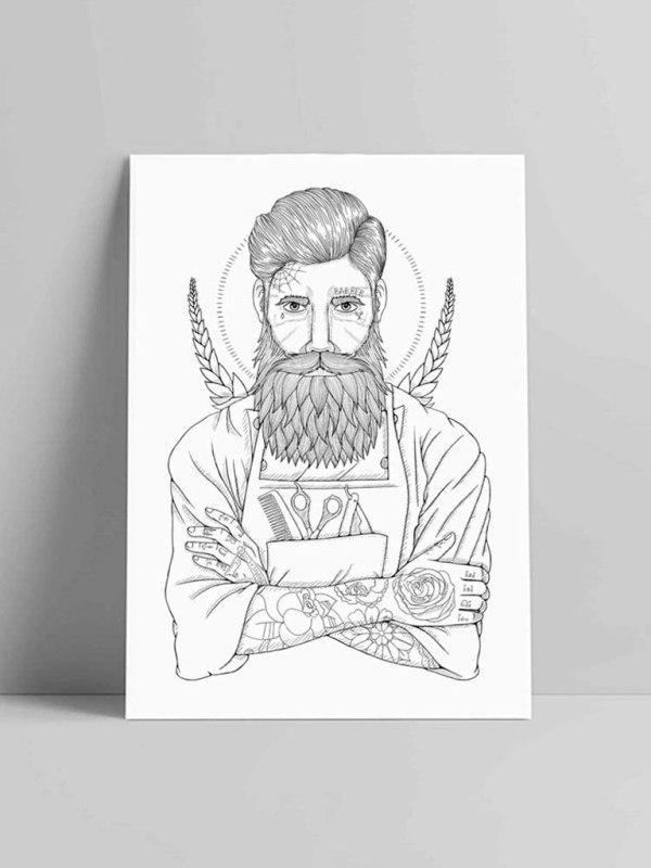 VIENTO - The Barber Illustration