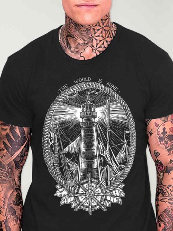 VIENTO - Night Lighthouse T-shirt