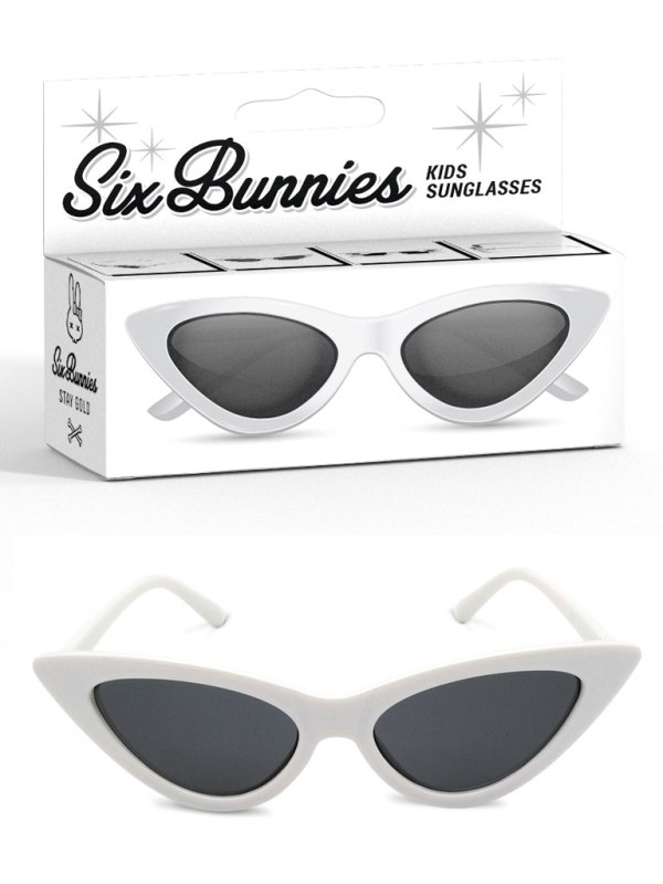 SIX BUNNIES - Cat Eye Solglasögon Vit