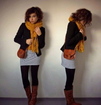 Modest But Classy Skirt Outfits Ideas Suitable For Fall35