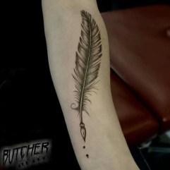 Awesome Feather Tattoo Ideas15