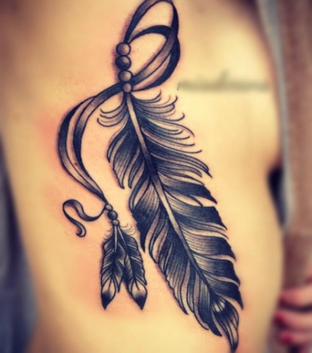 Awesome Feather Tattoo Ideas18
