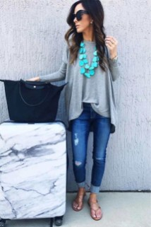 Classic And Casual Airport Outfit Ideas20