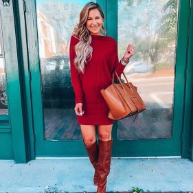 Adorable Winter Outfits Ideas Boots Skirts20