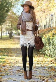 Adorable Winter Outfits Ideas Boots Skirts22