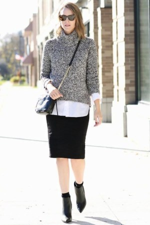 Adorable Winter Outfits Ideas Boots Skirts24