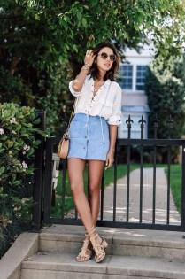 Fancy Winter Outfits Ideas Jean Skirts02