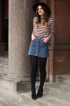 Fancy Winter Outfits Ideas Jean Skirts07