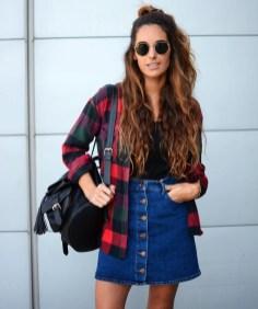 Fancy Winter Outfits Ideas Jean Skirts13