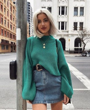 Fancy Winter Outfits Ideas Jean Skirts33